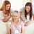 kadın · arkadaş · sunmak · oturma · odası · gülümseme - stok fotoğraf © wavebreak_media