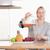 femme · verre · cuisine · vert - photo stock © wavebreak_media