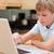 мальчика · используя · ноутбук · кухне · компьютер · улыбка - Сток-фото © wavebreak_media