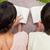 hátsó · nézet · férfi · nő · olvas · könyvek · pléd - stock fotó © wavebreak_media