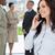 jeunes · femme · d'affaires · parler · téléphone · souriant · une - photo stock © wavebreak_media
