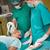 tálca · sebészi · olló · tiszta · ezüst · műtét - stock fotó © wavebreak_media