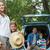 family with two kids at picnic stock photo © wavebreak_media