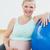 donna · incinta · seduta · esercizio · palla · bella - foto d'archivio © wavebreak_media