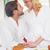 boldog · pár · reggeli · együtt · otthon · konyha - stock fotó © wavebreak_media