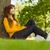 счастливым · женщину · Ложь · газона · девушки - Сток-фото © wavebreak_media