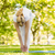 peaceful blonde doing yoga in the park stock photo © wavebreak_media