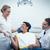mannelijke · tandarts · handen · schudden · vrouw · tandartsen · stoel - stockfoto © wavebreak_media