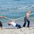 vidám · család · játszik · háború · tengerpart · nő - stock fotó © wavebreak_media