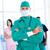 enfermeira · máscara · cirúrgica · mulher · menina · trabalhar - foto stock © wavebreak_media
