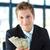işadamı · dolar · bakıyor · yakışıklı - stok fotoğraf © wavebreak_media