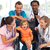 Doctors playing with a baby in a wheelchair stock photo © wavebreak_media