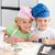 retrato · dois · adorável · crianças · cozinha - foto stock © wavebreak_media