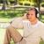 moço · ouvir · música · parque · verde · diversão · dormir - foto stock © wavebreak_media