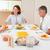 aile · oturma · akşam · yemeği · mutfak · gülümseme · erkek - stok fotoğraf © wavebreak_media