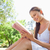 mujer · hermosa · lectura · libro · forestales · naturaleza · feliz - foto stock © wavebreak_media