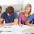четыре · студентов · сидят · вместе · исследование · домой - Сток-фото © wavebreak_media