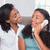 vrolijk · vrouw · roepen · wonen · mobiele · telefoon · vergadering - stockfoto © wavebreak_media