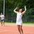 tennis doubles team celebrating a win stock photo © wavebreak_media