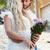 fiatal · divatos · férfi · tart · köteg · virágok - stock fotó © wavebreak_media