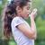 fiú · légzési · orvosi · gyermek · gyógyszer · gyerek - stock fotó © wavebreak_media