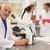 gülen · tıbbi · profesör · çalışma · mikroskop · üniversite - stok fotoğraf © wavebreak_media