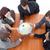 high angle of business people holding a globe global business stock photo © wavebreak_media