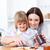 gülen · anne · yardım · kız · kahvaltı · mutfak - stok fotoğraf © wavebreak_media