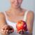 красивая · женщина · шоколадом · яблоко · Focus · молодые - Сток-фото © wavebreak_media