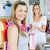 Delighted woman taking shopping bag of a saleswoman in a shop stock photo © wavebreak_media