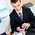 zagęszczony · biznesmen · Kalkulator · biuro · papieru · telefonu - zdjęcia stock © wavebreak_media