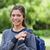friss · fiatal · diák · lány · park · portré - stock fotó © wavebreak_media