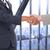 empresária · grande · janela · prédio · comercial · terno - foto stock © wavebreak_media