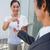 Estate agent giving house key to buyer stock photo © wavebreak_media