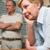 casal · de · idosos · argumento · casa · mulher · triste · feminino - foto stock © wavebreak_media