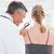 doctor examining a spot at his patient stock photo © wavebreak_media