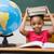 cute pupil holding books on her head stock photo © wavebreak_media