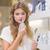 bastante · mulher · loira · perfumaria · shopping · feminino · sorridente - foto stock © wavebreak_media