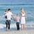 幸せな家族 · 徒歩 · 砂 · ビーチ · 家族 · 愛 - ストックフォト © wavebreak_media