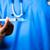 orvos · tart · injekciós · tű · férfi · orvos · munka · orvosi - stock fotó © wavebreak_media