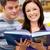 ярко · пару · студентов · чтение · книга · книжный · магазин - Сток-фото © wavebreak_media