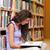 Porträt · weiblichen · Studenten · Lesung · Buch · Bibliothek - stock foto © wavebreak_media