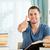 mannelijke · student · goed · bereid · examen · papier - stockfoto © wavebreak_media
