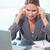 肖像 · 動揺 · 女性実業家 · 頭痛 · オフィス · 作業 - ストックフォト © wavebreak_media