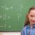 aranyos · iskolás · lány · pózol · iskolatábla · iskola · diák - stock fotó © wavebreak_media