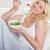 szőke · nő · tál · étel · száj · reggeli · egyensúly - stock fotó © wavebreak_media