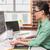 kadın · editör · çalışma · bilgisayar · fotoğrafları · kadın - stok fotoğraf © wavebreak_media
