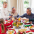 family toasting with red wine in a christmas dinner stock photo © wavebreak_media