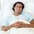 portré · mosolyog · beteg · kórházi · ágy · orvosi · férfi - stock fotó © wavebreak_media