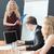 reunión · tren · mujeres · tecnología · empresario - foto stock © wavebreak_media